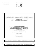 Form L-9 - Affidavit Of Resident Decedent Requesting Real Property ...