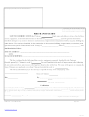 Mechanics Lien Form - Blank
