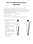 Arm Theraband Exercises: Standing (spanish & English) Physical Therapy Worksheet