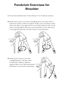 Pendulum Exercises For Shoulder (spanish & English) Physical Therapy Worksheet