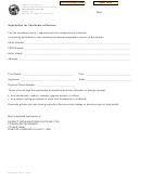 Form Ftb 3557 E - Application For Certificate Of Revivor - 2012