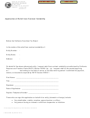 Form Ftb 2518 Bc - Application Of Relief From Contract Voidability