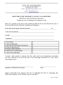 Monthly/quarterly Sales Tax Report Form - City Of Aleknagik