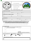 Application For Building Permit Form - City Of Walker