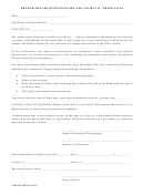 Form Com 4523 - Broker-dealer Questionnaire And Affidavit: Prior Sales Form
