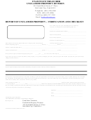 Form St-2 - Report Of Unclaimed Property - Verification And Checklist