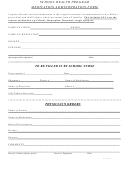 Student Medication Administration Form