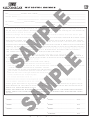 Pest Control Addendum Sample Template