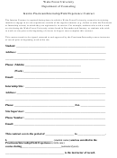 Interim Practicum/internship/field Experience Contract Form