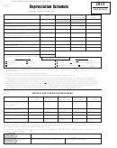 Maryland Form 4b & 4c - Depreciation Schedule - 2015