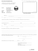 Form Tm-3 - Affidavit Of Change Of Ownership For Trademark Or Service Mark Form - State Of Montana - Secretary Of State