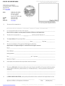 Certificate Of Authority Of Foreign Profit Corporation Application Form - State Of Montana - Secretary Of State