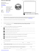 Registration Of Assumed Business Name Application Form - State Of Montana - Secretary Of State