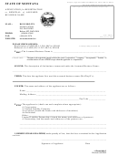 Form Abn-1 - Application For Registration Or Renewal Of Assumed Business Name Form - State Of Montana - Secretary Of State