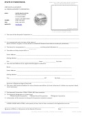 Certificate Of Authority For Foreign Nonprofit Corporation Form - State Of Montana - Secretary Of State