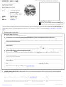 Statement Of Change Of Registered Agent And/or Registered Office Form - Montana Secretary Of State