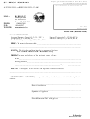 Form Res - Application For Reservation Of Name Form - State Of Montana - Secretary Of State