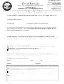 Authorization For Release Of Financial Information (including Account Status Of A Taxfiler/licensee) Form - Portland