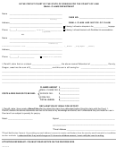 Small Claims Department Form