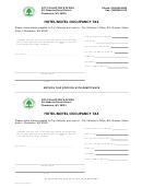 Hotel/motel Occupancy Tax Form - Charleston, Wv