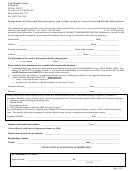 Designation Of A Personal Representative And Authorization To Access Protected Health Information Form