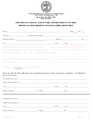 Physician Application For Appointment To The Medical Impairment Rating (mir) Registry Form