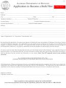 Form Bf-1 - Application To Become A Bulk Filer - 2016