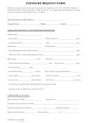 Exposure Request Form