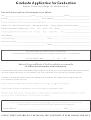 Graduate Application For Graduation Form