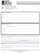 Fire Flow Test Application Form - Anne Arundel County Maryland