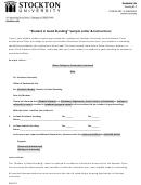 Sampleletterandinstructions Form - Stockton University Printable pdf