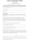 Amherst Municipal Utilities Form