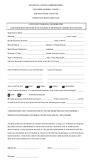 Applicant Financial Form - Board Of License Commissioners, Anne Arundel County Maryland