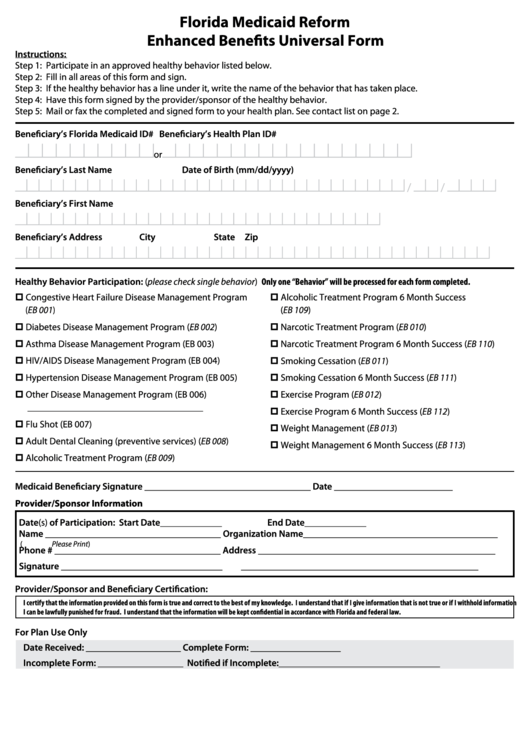 Top Florida Medicaid Application Form Templates free to download ...