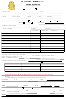 Customs Form 7 - Ship's Report Template - H.m. Customs Cayman Island