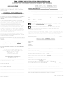 Tax Credit Certification Request Form