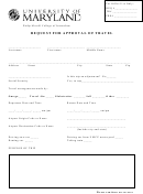 Request For Approval Of Travel Form