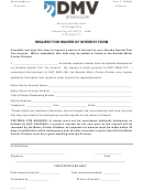 Form Mc 377 - Request For Waiver Of Interest Form - Motor Carrier Division