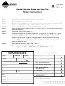 Rental Vehicle Sales And Use Tax Form - Montana Department Of Revenue