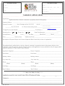 Variance Application - Anne Arundel County