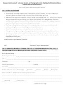 Request To Broadcast, Televise, Record, Or Photograph Inside The Court Of Common Pleas, Probate And Juvenile Division Form