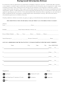 Background Information Release Form