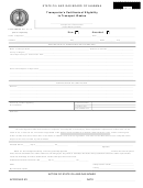 Form Ogb-25 - Transporter's Certificate Of Eligibility To Transport Wastes