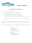 Application For Sales And/or Use Tax License Form - Colorado Sales Tax Division