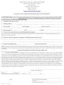Application For Temporary Practice Permit Form - Idaho Bureau Of Occupational Licenses
