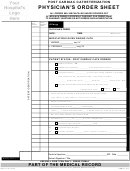 Post Cardiac Catheterization Physician's Order Sheet