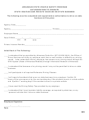 Authorization To Operate State Vehicles And Private Vehicles On State Business Form