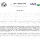 North Carolina Department Of Revenue Form Tr-c (revisions)