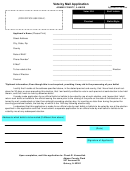 Application To Vote By Mail Form - Adams County, Illinois