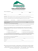 Letter Of Recommendation Form - Department Of Counselor Education